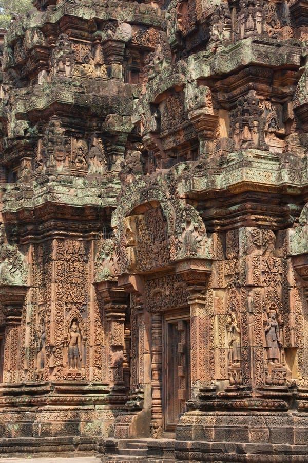 Carvings de Banteay Srei imagem de stock royalty free