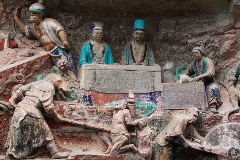 Carvings de Dazu imagem de stock royalty free
