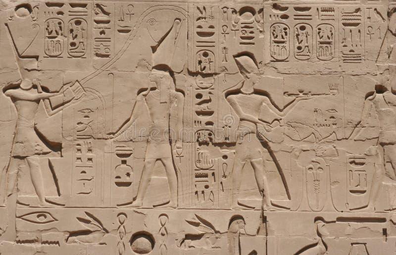 Carvings de Luxor fotos de stock