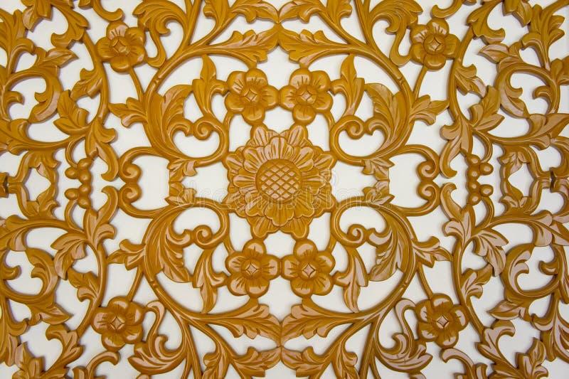 Carvings de madeira Filigree fotografia de stock royalty free