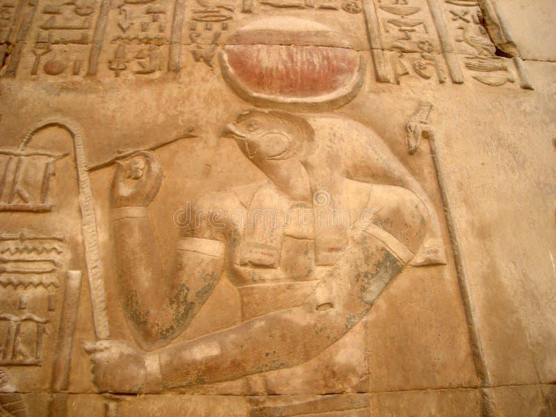 Carvings egípcios foto de stock royalty free