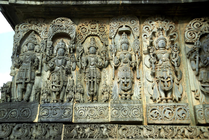 Carvings,Halebid, Karnataka, India royalty free stock images