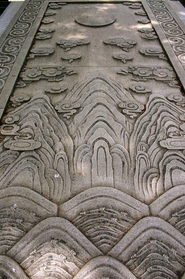 Carvings na pedra   imagem de stock