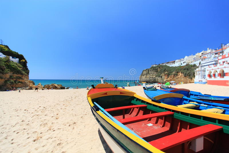 Carvoeiro na Algarve w Portugalia obraz stock