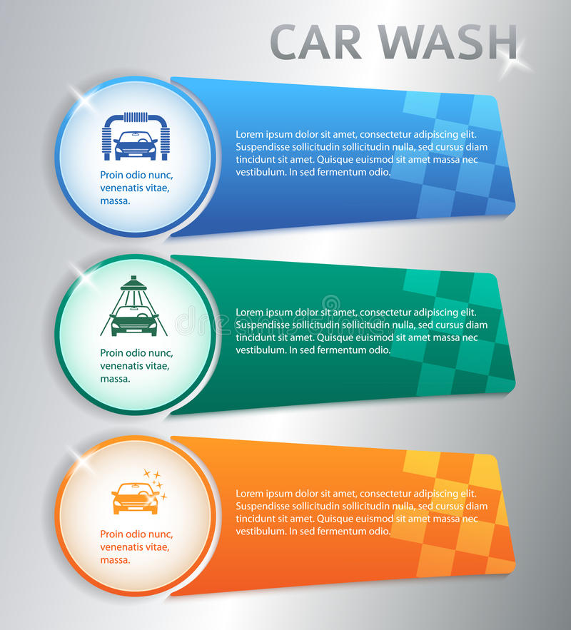 Carwash ilustração royalty free