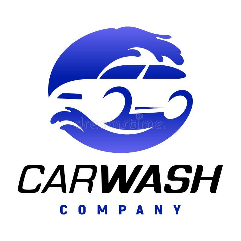 Carwash company logo. Carwash company emblem. Auto wash station logo vector illustration stock illustration