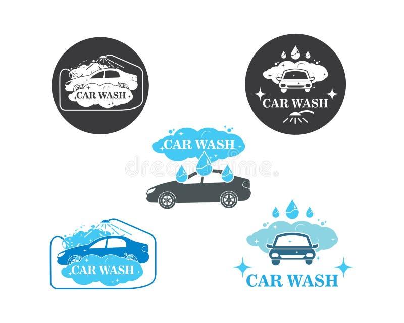 carwash de vectorillustratie van het pictogramembleem stock illustratie