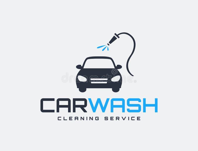 Carwash usługowy logo ilustracji