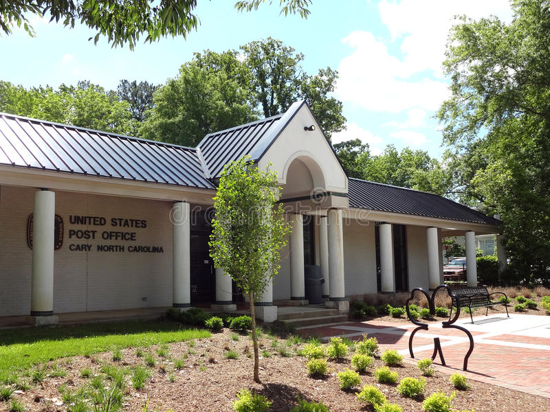 Cary, Carolina Post Office norte fotos de stock royalty free