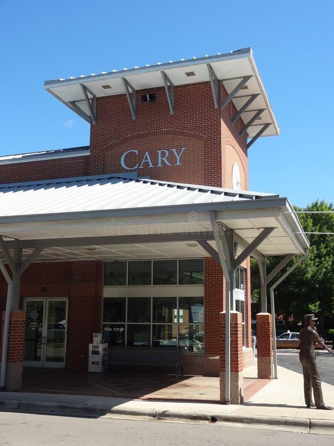 Cary, Carolina Train Station norte fotos de stock royalty free