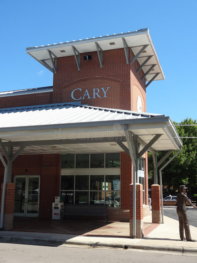 Cary, Nord-Carolina Train Station lizenzfreie stockfotos