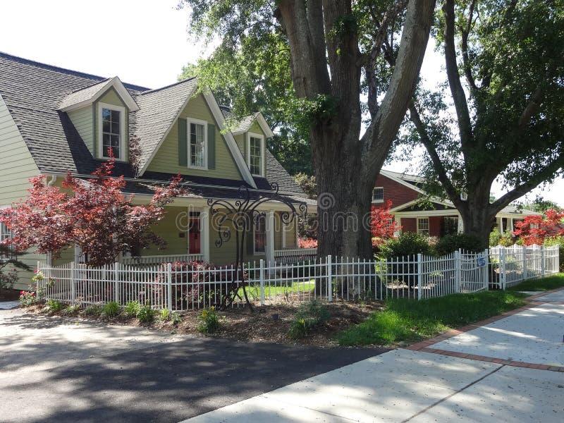 Cary, North Carolina. Charming homes in Cary, North Carolina royalty free stock photography