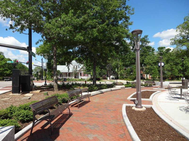 Cary, North Carolina Park. Park in downtown Cary, North Carolina stock images