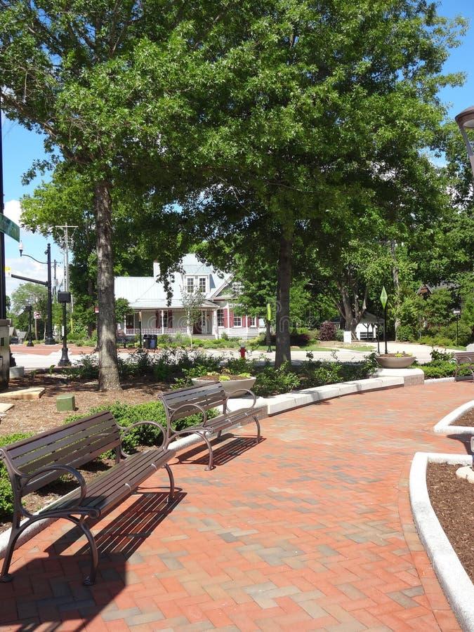 Cary, North Carolina Park. Park in downtown Cary, North Carolina stock image