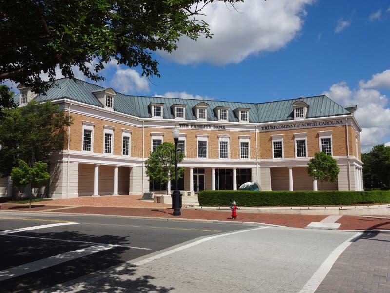 Cary, North Carolina`s Fidelity Bank. Fidelity Bank in Historic Downtown Cary, North Carolina royalty free stock photography
