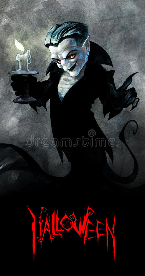 Cary samiec wampir royalty ilustracja