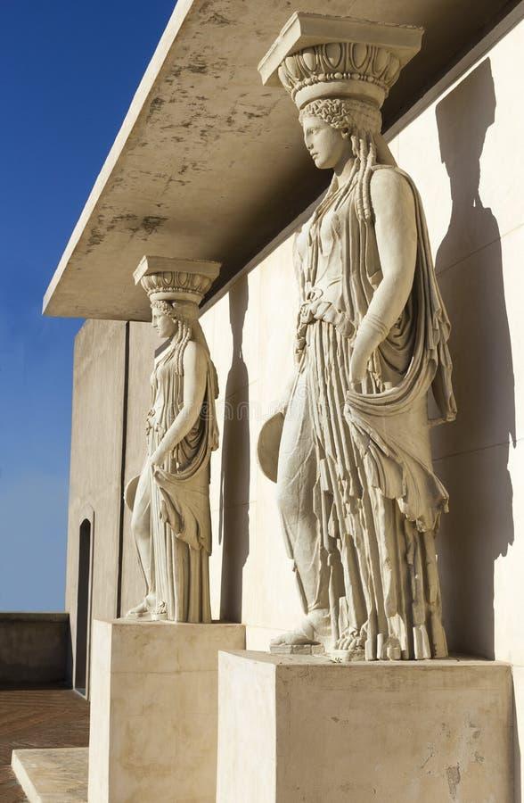 Caryatid in archaeological museum. Of campi flegrei castello aragonese stock images