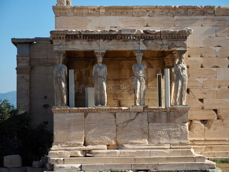 Caryatid Columns at the Parthenon royalty free stock images