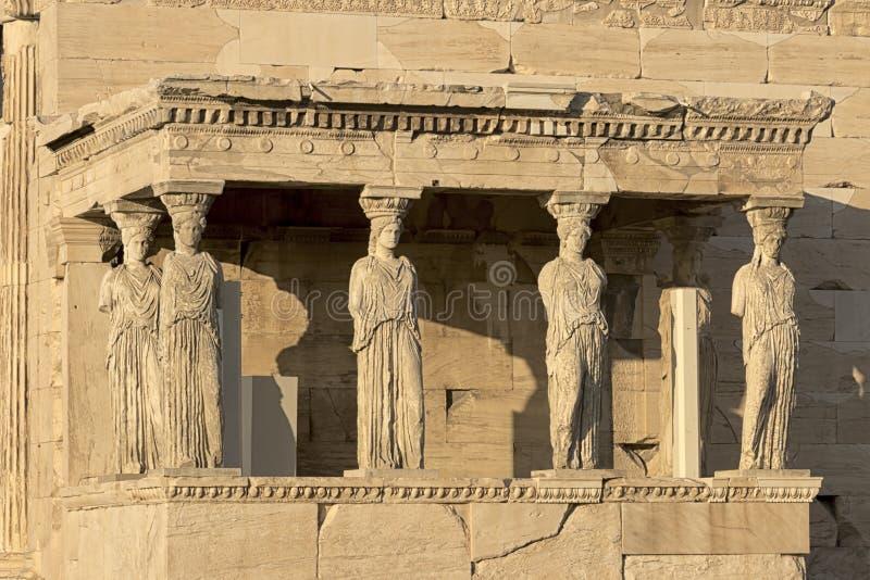 Caryatides门廊  库存照片