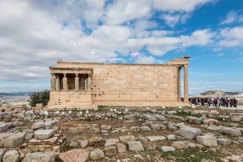 Caryatides, Erechtheion świątynny akropol, Ateny, Grecja zdjęcie royalty free