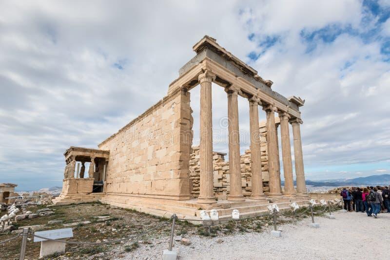Caryatides, Erechtheion świątynny akropol, Ateny, Grecja zdjęcia royalty free