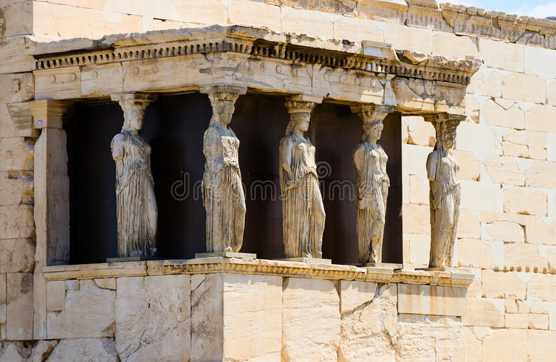 The caryatids royalty free stock photography