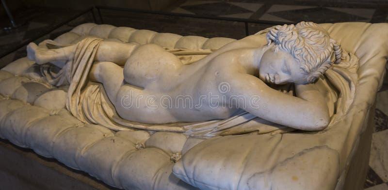 The Caryatids room, The Louvre, Paris, France. A view in PARIS, FRANCE, MARCH 13, 2017 : architectural details of the caryatids room, the Louvre palace, march 13 stock images