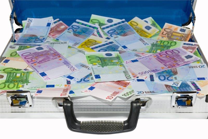 Cas avec de l'argent photo libre de droits