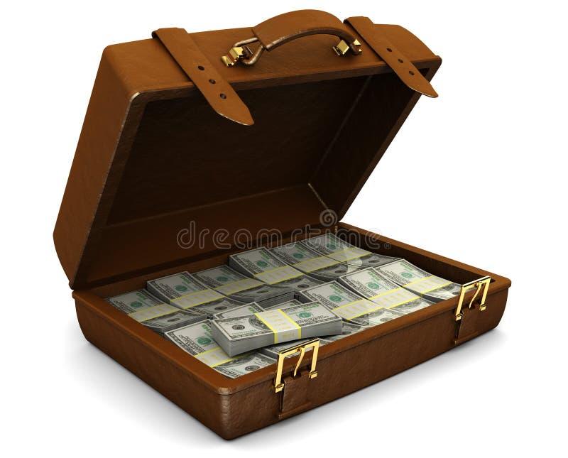 Cas avec de l'argent illustration de vecteur