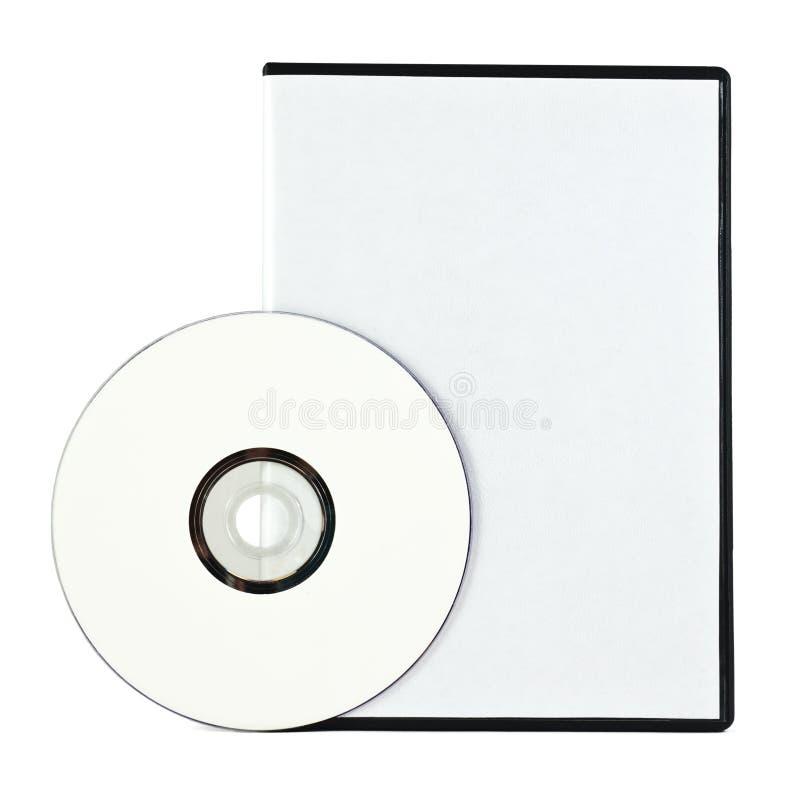 Cas blanc et DVD photographie stock libre de droits