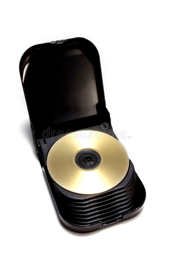 Cas de CD/DVD photo libre de droits