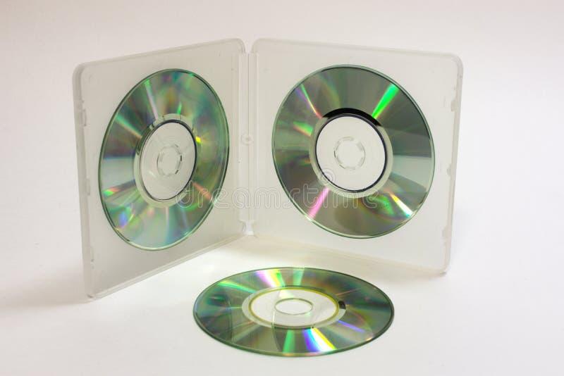 Cas double face de blanc translucide pour stocker de mini disques image libre de droits