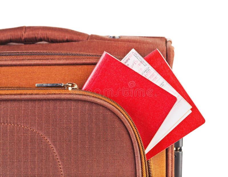 Cas, passeport et billet de course photo libre de droits