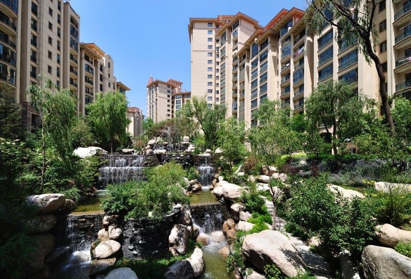 Casa, área residencial, Beijing, China foto de stock royalty free