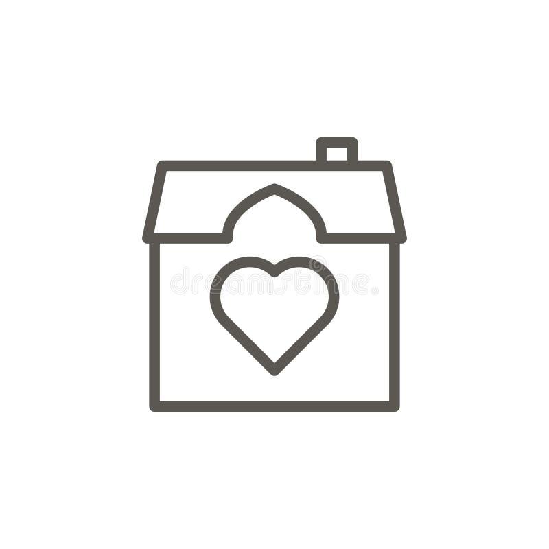 Casa, casa, ícone do vetor do amor Ilustra??o simples do elemento do conceito de UI Casa, casa, ícone do vetor do amor Conceito 6 ilustração royalty free
