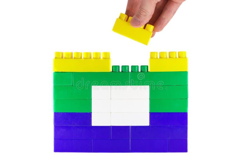 Casa 1 del giocattolo della costruzione immagine stock