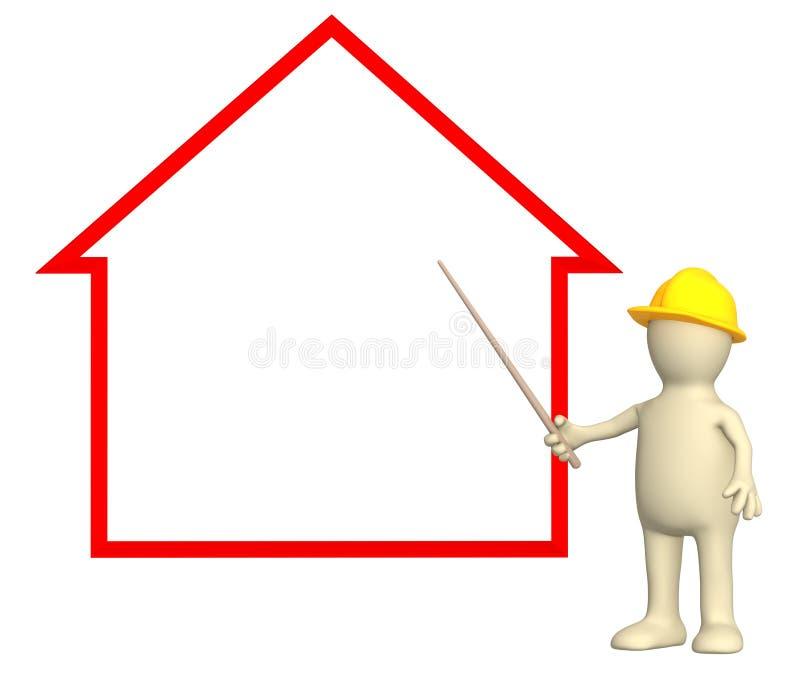 Casa stock de ilustración