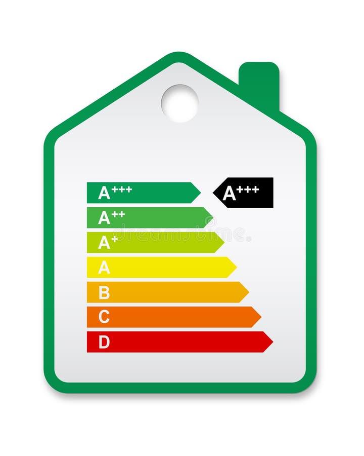 Casa 2012 del contrassegno di energia illustrazione vettoriale