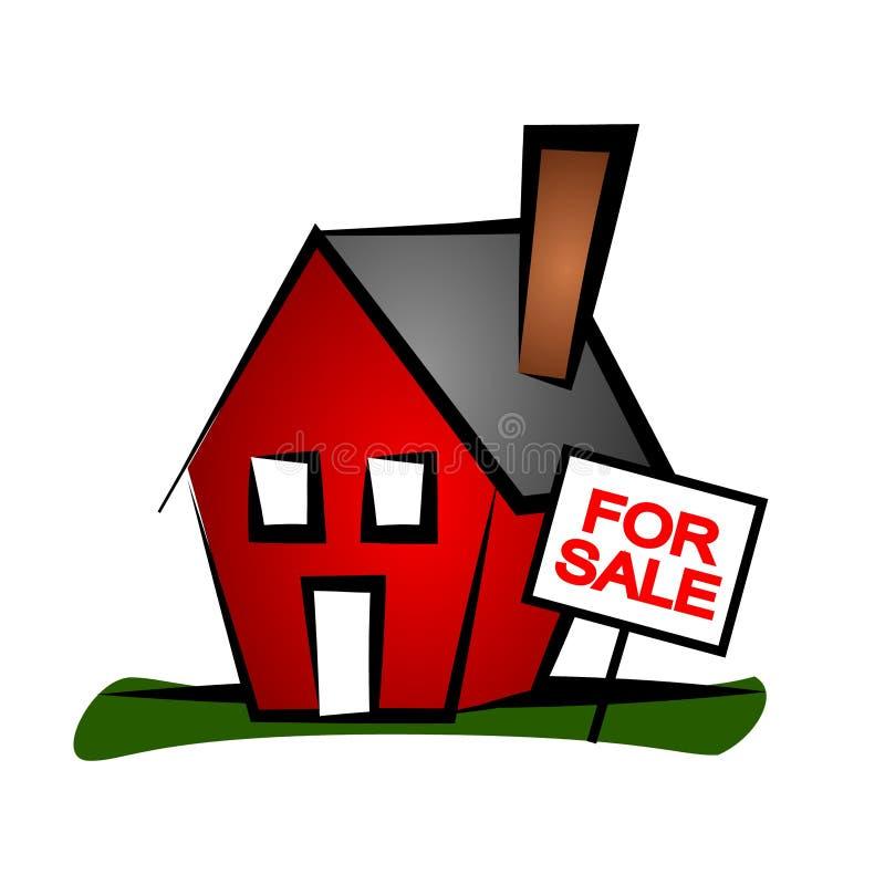 Casa 3 da arte de grampo dos bens imobiliários ilustração do vetor