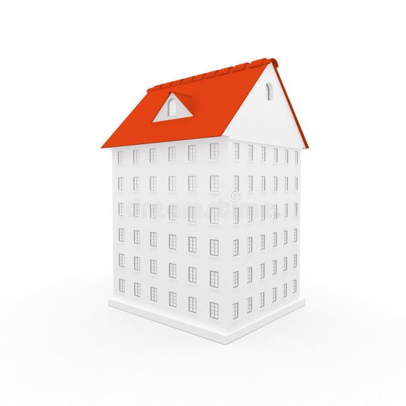 casa 3d ilustração stock