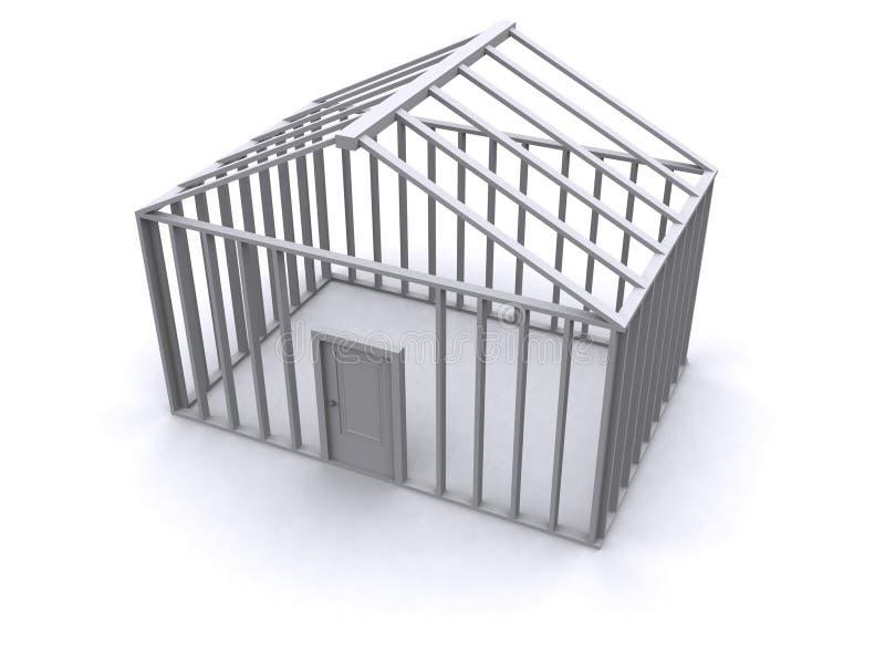 casa 3D ilustração do vetor