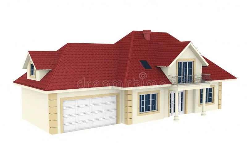 casa 3d isolata su priorità bassa bianca royalty illustrazione gratis