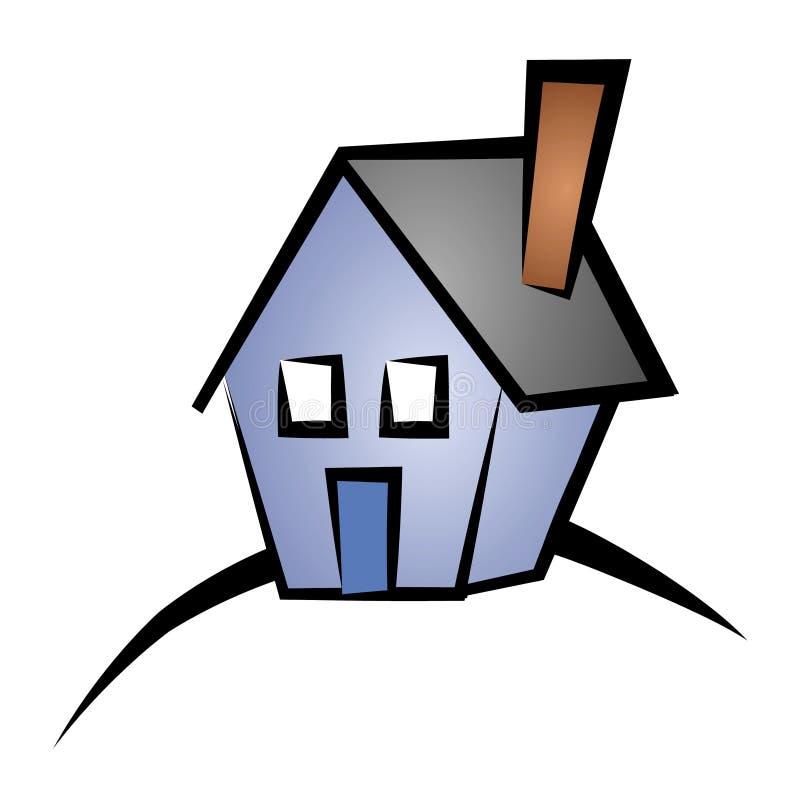 Casa 4 da arte de grampo dos bens imobiliários ilustração royalty free