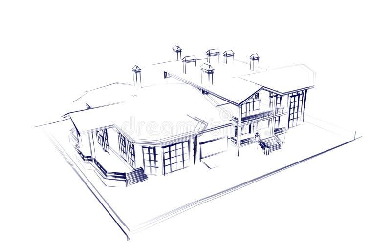 Download Casa illustrazione di stock. Illustrazione di casa, costruzione - 7306750
