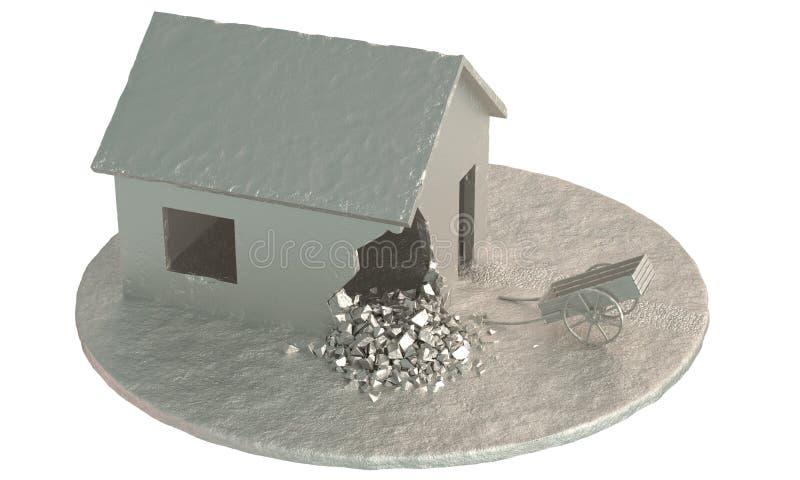 Casa abandonada ilustração do vetor
