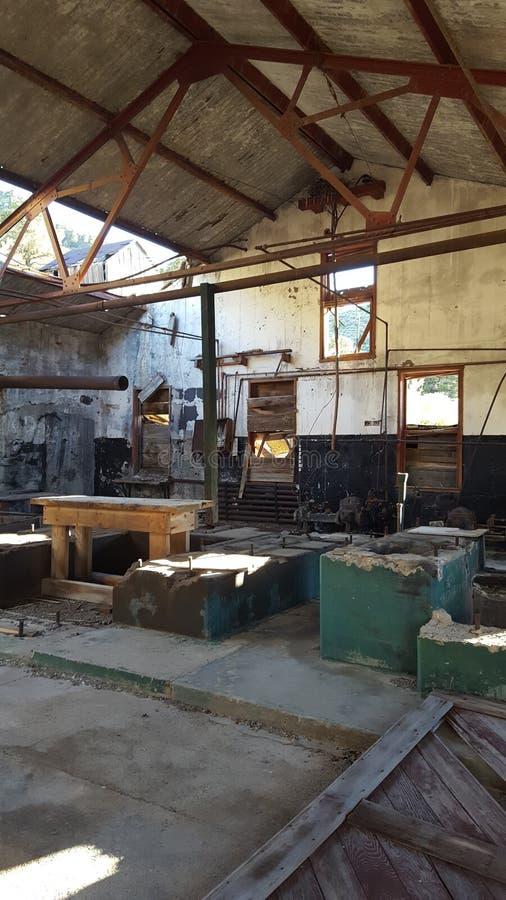 Casa abandonada da mina imagem de stock