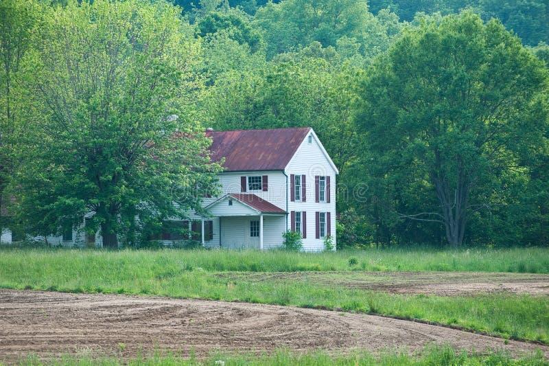 Casa abandonada de la granja en Kentucky imagen de archivo libre de regalías