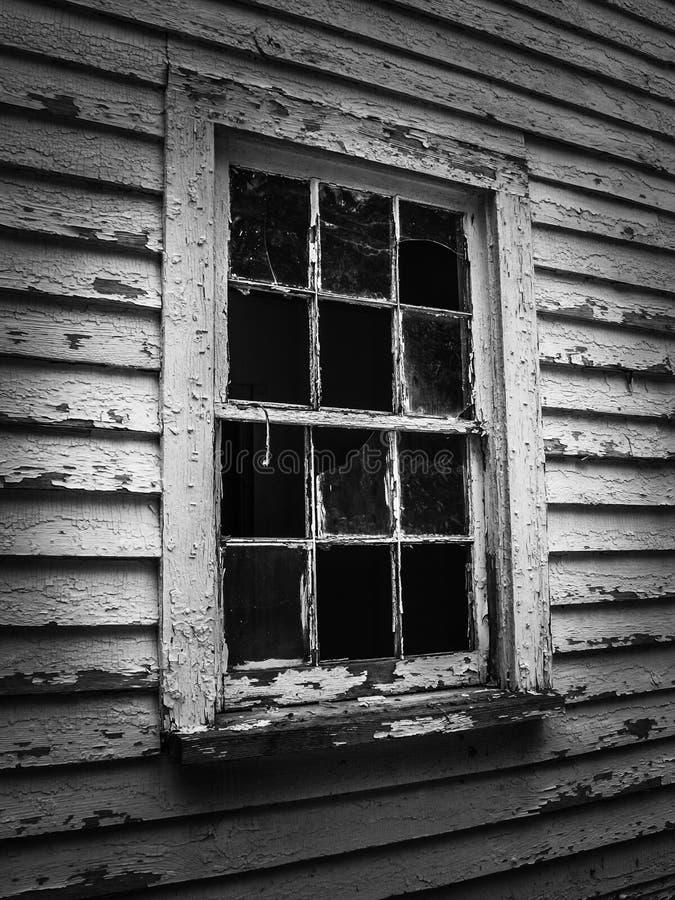 Casa abandonada do trabalhador do moinho na vila do moinho de algodão de Oakdale imagens de stock royalty free
