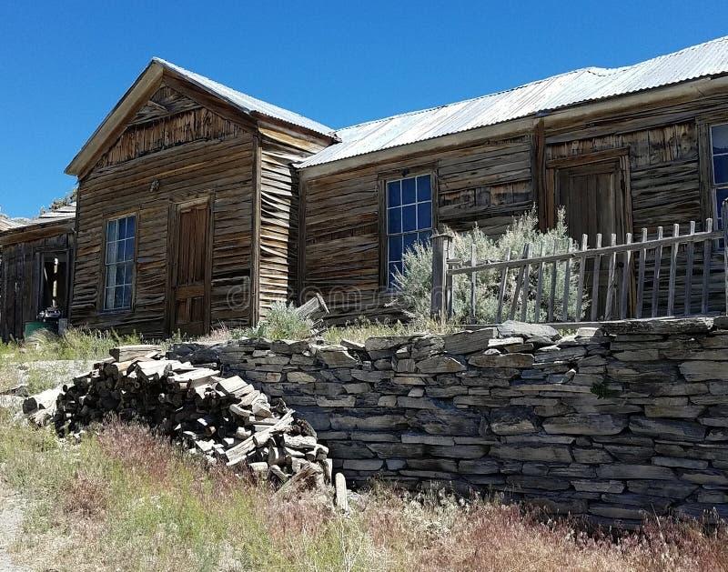 Casa abandonada em Belmont, Nevada fotografia de stock