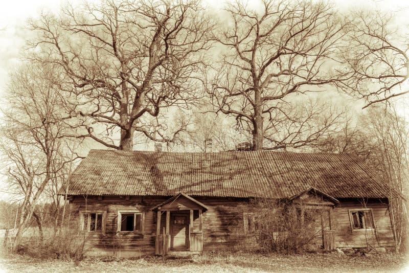 Casa abandonada velha fotos de stock